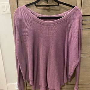 XS Free people waffle/thermal long sleeve shirt